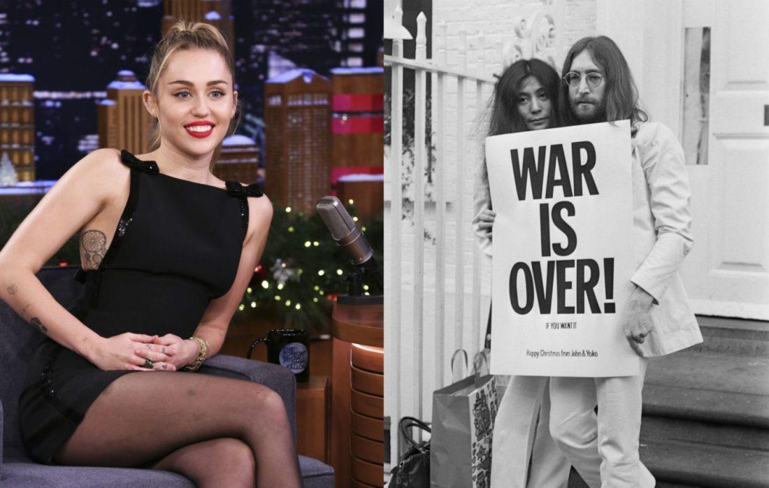 "Miley Cyrus ""Happy Xmas"" (w/ John Lennon, Yoko Ono)"